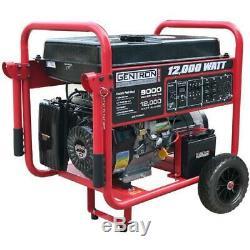 Gentron 12000w Gas-powered Générateur Portable Avec Démarrage Électrique, Gg12000