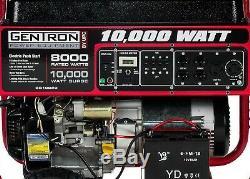 Gentron 8,000w / 10,000w Gaz Portable Alimenté Générateur Avec Démarrage Électrique