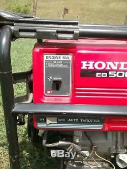 Honda 5000 Watt Quiet Gfci Gaz Portable Alimenté Générateur De Secours Accueil Eb5000x