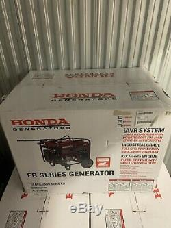 Honda 5000 Watt Quiet Gfci Gaz Portable Powered Eb5000 Sauvegarde Génératrice