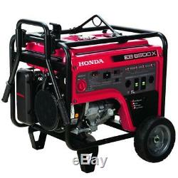 Honda Eb6500 6500 Watts 6.2-gallon Industriel Gfci Gas Powered Générateur