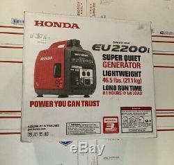 Honda Eu2200i 2200 Watts Super Silencieux Gaz Portable Power Inverter Generator