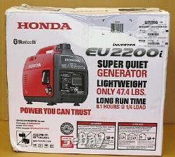 Honda Eu2200i 2200-watt Quiet Gas Power Générateur D'onduleur Portable Bluetoot Nouveau