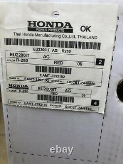 Honda Eu2200i 2200w Alimenté Au Gaz Générateur D'onduleur Portable Pick-up Local Seulement