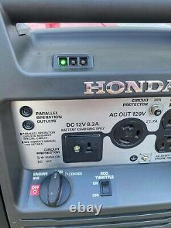 Honda Eu3000i Portable Quiet Onduleur Générateur D'énergie Au Gaz
