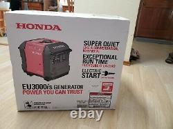 Honda Eu3000is Générateur D'onduleur Portable Gaz Propulsé Original Scellé Nouveau