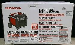 Honda Eu7000is 7000 Watt Puissance De L'onduleur Silencieux Gaz Portable Générateur Marque Nouveau