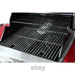 Kitchenaid 2 Brûleur Propane Gas Grill Bbq Red Black Stainless Steel Puissant