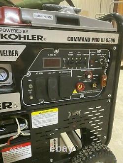 Kohler Command Pro III 9500, 3 En 1 Soudeur Alimenté Au Gaz, Compresseur, Générateur