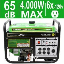 Lifan Energy 4100-w Calme Portable Gas Powered Generator Home Backup Rv Camping