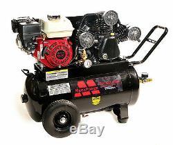 Mega Mp-6520g 6,5-hp 20-gallon 135 Psi Alimentée Au Gaz Courroie D'entraînement Compresseur D'air