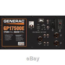 New Generac Gp17500e Démarreur Électrique Génératrice À Essence Portable Rallumée Alimentation