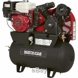 Northstar Gas-powered Compresseur D'air Portatif Honda Gx390 Ohv 30gal Réservoir