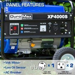 Nouveau Duromax Xp4000s Portable Gas Rv Generator 4000w Engine Power Outage Camping