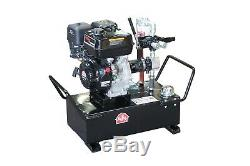 Php Démarrage Électrique Au Gaz D'alimentation Pompe Hydraulique Portable Système 10 Gal 7gpm 1350psi