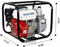 Pompe À Eau Alimentée Au Gaz Flood Irrigation 6.5 HP Transfert D'eau Portable 2 Pouces