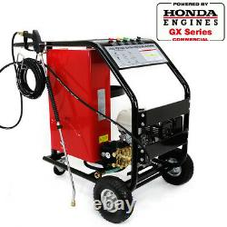 Portable Lpg Gas Pressure Washer Hot Cold Water Instant Powered By Honda 3000psi