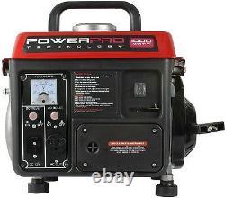 Power Pro 900 Watts En Cours D'exécution/1000 Watts De Démarrage Générateur Portable Alimenté Au Gaz