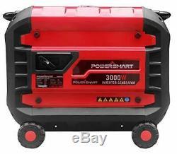 Powersmart 3000 W Gaz Portable Silencieux Powered Inverter Generator Accueil Rv Camping