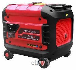 Powersmart 3,000-w Silencieux Générateur D'onduleur Portable Alimenté Au Gaz Home Rv Camping
