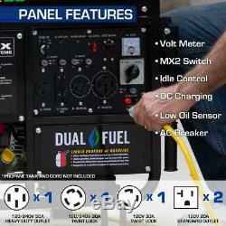 Propane Motorisé À Essence Générateur Portable 12k Watts Accueil Retour Haut / Rv Prêt Roues