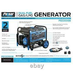 Pulsar 12000/9500-w Double Gaz / Propane À Propulsion Électrique De Démarrage Du Générateur Portable