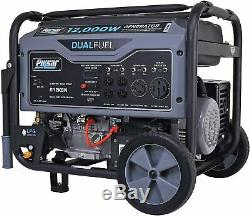 Pulsar 12000-w Portable Hybride Double Gaz Combustible Fonctionnant Générateur Démarreur Électrique