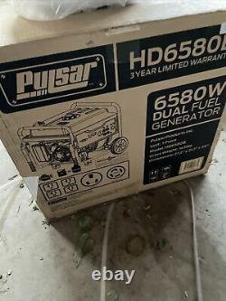 Pulsar 6,580-w Portable Rv Prêt Générateur À Double Carburant Gaz Alimenté Avec Kit De Roue