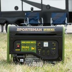 Sportif 4000-w Portable Dual Fuel Gas Powered Générateur De Secours Accueil Camping Rv