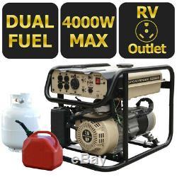 Sportif Sandstorm 4000 Watt Double Carburant Gaz Générateur Portable D'alimentation D'urgence