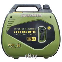 Sportsman 2200 W Super Silencieux Portable Dual Fuel Gas Powered Inverter Generator