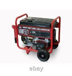 Tous Les Power 10,000-w Portable Double Générateur Alimenté Au Gaz De Carburant Avec Démarrage Électrique