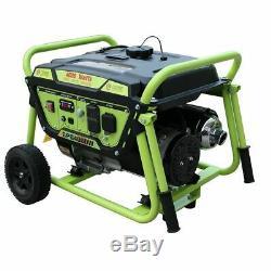 Vert-power Amérique 4000 Watt 7 HP Gaz Portable Alimenté Générateur / Démarrage Manuel