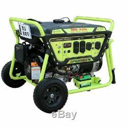 Vert-power Amérique 8000 Watt 15 HP Puissance Gaz Portable Générateur / Démarreur Électrique