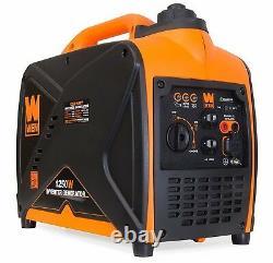 Wen 1,250-watt Silencieux Générateur D'onduleur Portable Alimenté Au Gaz Léger Home Rv