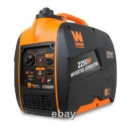 Wen 2,250-w Super Quiet Portable Gas Powered Inverter Generator Home Rv Camping