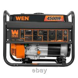 Wen 4,500-watt Calme Portable Rv Ready Gas Powered Generator Home Backup Camping