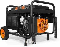 Wen 4,750-w Portable Rv Ready Gaz Générateur De Démarrage Électrique Alimenté Avec Kit De Roue