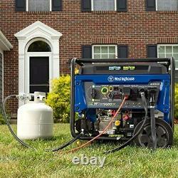 Westinghouse 12 500 W Générateur Portable À Gaz À Double Carburant Avec Démarrage À Distance