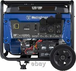 Westinghouse 6 600-w Générateur Portatif À Gaz Rv Ready Avec Démarrage Électrique