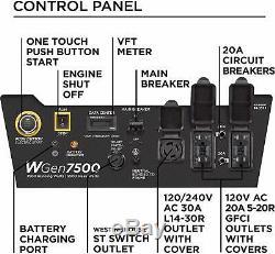 Westinghouse 9.500 W Gaz Portable Alimenté Générateur Avec Démarrage Électrique À Distance