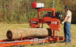 Wood-mizer Lt15 Band Portable Sawmill 19hp Avec Alimentation Électrique