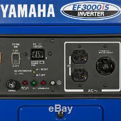 Yamaha Ef3000is 3000 Watt Gaz Puissance Rv Portable Alimenté Onduleur Générateur