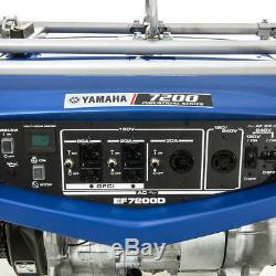 Yamaha Ef7200d 7200 Watt Gas Powered Camping Rv Portable Génératrice Sauvegarde